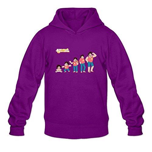 DASY Men's O-neck Steven Universe Hoodie Purple Medium