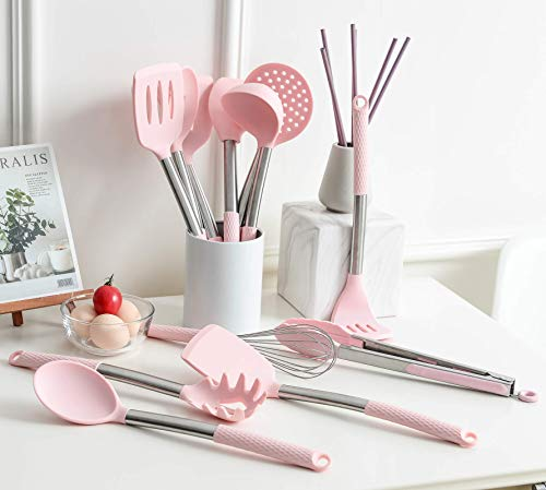 Rorence Kitchen Utensil Cooking Utensil Set for Baking Mixing: 12 Pieces Kitchen Gadgets Non-Stick & Heat Resistance…