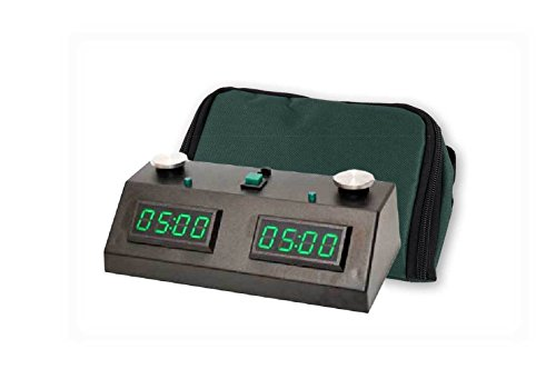(Zmart Fun II Digital Chess Clock with Wedge Bag Carrying Case (Black/Green))