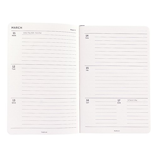Busy B 2019 Week To View Desk Diary with Notes