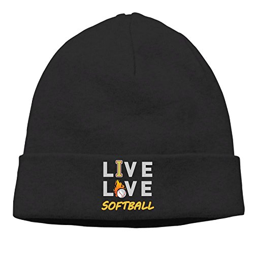 Ingrid Rosalin Love Softball Womens Winter Warm Knitting Hats Wool Baggy Slouchy Beanie Hat Skull Cap Black Supreme Series Softball Glove