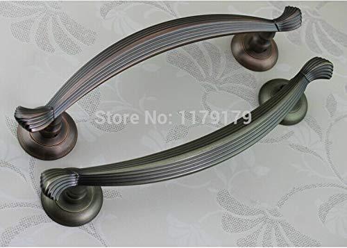 310mm vintage style wooden door glass door handles antique copper/bronze zinc alloy big gate door handle pull Home KTV Office