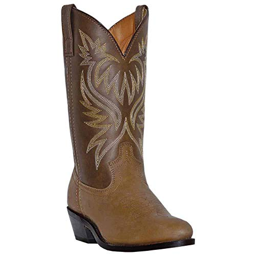 Laredo Mens Tan Leather London 12in Distressed R Toe Cowboy Boots 16 EW ()