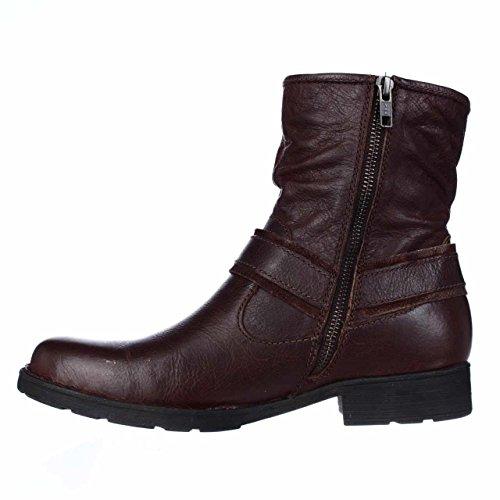 Geboren Estonia Lederen Gesloten Teen Enkel Mode Laarzen Roest