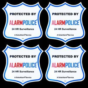"(4) PoliceAlert™ 4"" New Warning! CCTV Video Sign Security Camera Stickers"