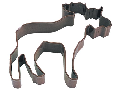 R & M Polyresin Coated Moose Cookie Cutter, 4-Inch, Brown