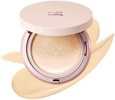 ETUDE HOUSE Double Lasting Cushion Glow (W21 Beige) SPF 50+ PA+++| 24-Hours Lasting Cushion with a Radiant Natural Finish