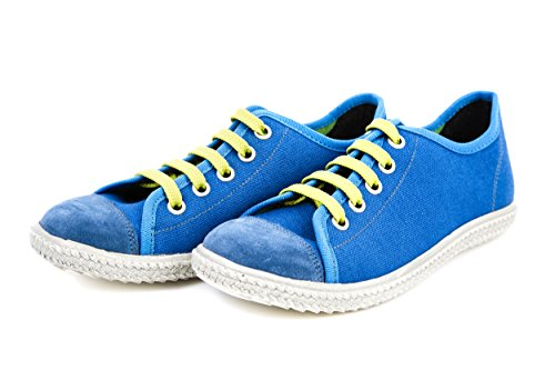 Däumling Kinderschuhe Jungen Sneaker Wildleder / Canvas Blau Gr. 31