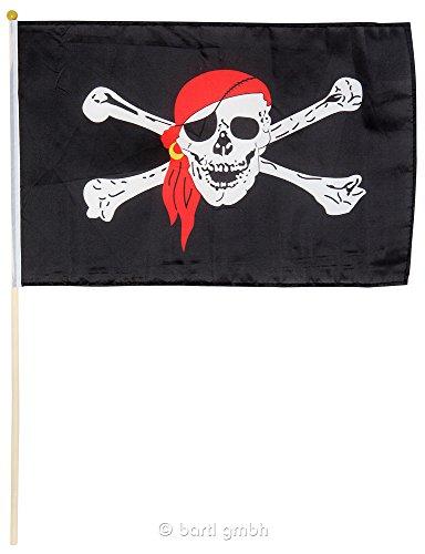 Piraten-Stockflagge 30 x 40 cm