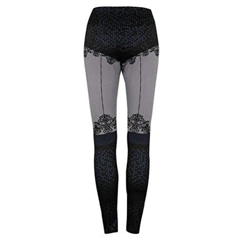 Femme Jogging Pantalon Legging Taille Minceur Sudation Sport Mi Pants Bleu Workout Imprimés Yoga Angelof Fille 4XBqYf