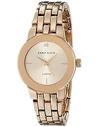 Anne Klein AK/1930RGRG Women's Diamond-Accented Dial Bracelet Watch, Rose Gold-Tone