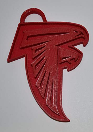 YNGLLC Atlanta Falcons NFL Football Logo Hanging Ornament Holiday Christmas Decor 3D Printed Made in USA PR2062