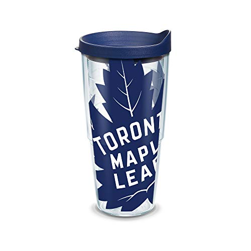 Tervis NHL Toronto Maple Leafs Colossal Wrap 24oz Tumbler Gift Boxed with Navy Lid, Clear