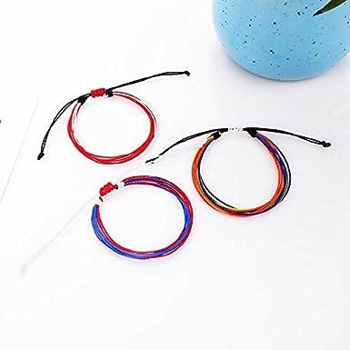 1pc pulsera de cuerda de cera hecha a mano pulsera tobillera opcional ajustable impermeable pulsera de cuerda de cera 19 color