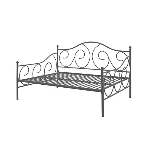 Swag Pads Full Size Metal Daybed Frame Contemporary Design Day Bed in Bronze Finish