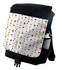 """Backpack with an excellent design, making more thorough use out of the space for larger volume. OVERALL MEASUREMENTS: 14""""W x 18.5""""H. FEATURES a mesh outer compartment for water bottles + a laptop/tablet carrying compartment inside which fits ..."""