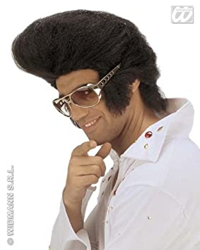 Large Black Elvis Wig Huge Quiff Premium Quality Rock N Roll Rocker Fancy Dress (peluca