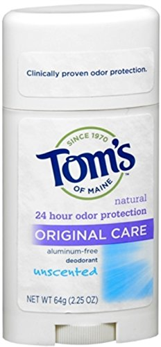 (Tom's of Maine Natural Deodorant Stick Unscented 2.25 oz (Pack of)
