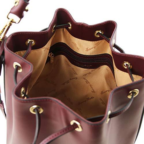 Piel En Leather Ruga brandy Vittoria Secchiello Bolso Tl141531 Bordeaux Tuscany wqORAXZWS