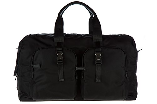 Prada Duffel (Prada travel duffle weekend shoulder bag Nylon black)