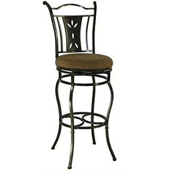 Amazon Com Artesia Adjustable Swivel Bar Stool With Back