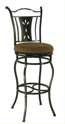 Amazon Com Artesia Adjustable Swivel Bar Stool With Back Kitchen
