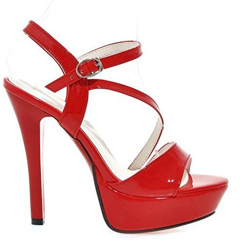 rosso Sandali Tacchi Donna Mode Stiletto Zanpa v6pqnUXwOF