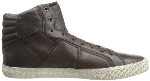 Geox U Smart R-Nylon - Zapatillas de cuero para hombre Marrón (Marrone (Marron (Brown)))