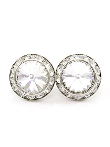 Ring Deco Crystal (Clear Crystal Post Round Deco Post Earrings Sparkling Crystal)