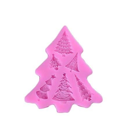fgyhtyjuu Pastel de Silicona del árbol de Navidad de Molde de la Torta Pasta de azúcar ...