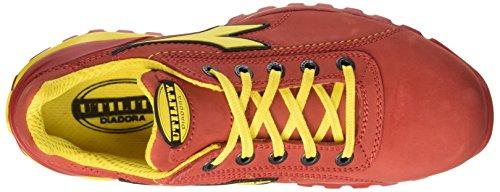 Glove Chaussures Mixte de Diadora II Rosso Rouge Adulte S3 Low Scuro Sécurité HRO xwOUH