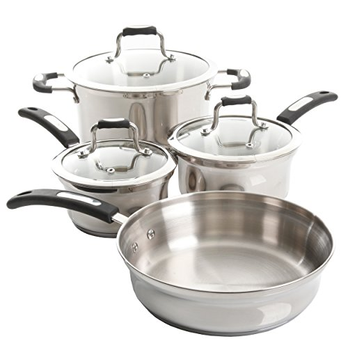 Oster Silverstrom 7 Piece Cookware Set, Stainless Steel (Oster Piece 7)