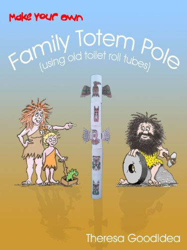 make your own family totem pole using old toilet roll tubes