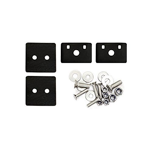 ICARS 2007-2018 Jeep Wrangler JK JKU Hood Latches Hood Lock Hood Catch Without Key, Retro Style, Stainless Steel, Black - Pair by ICARS (Image #5)