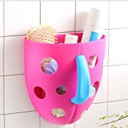 6e49002c3dd Bath Toy Organizer Storage Bin Baby Toys Bathroom Bag Kids Net Super Scoop  Tub (Rose Red)