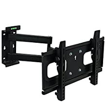 Mount-It! Full Motion TV Wall Mount Bracket Articulating, Tilting, Swivel TV Wall Mount VESA Up To 400x200 Fits 32, 40, 42 Inch 4K, LED, LCD, OLED TVs (MI-398)