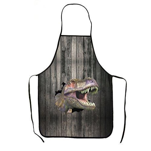 VIPbuy Novelty 3D Dinosaur Animal Print Funny Kitchen Bib...