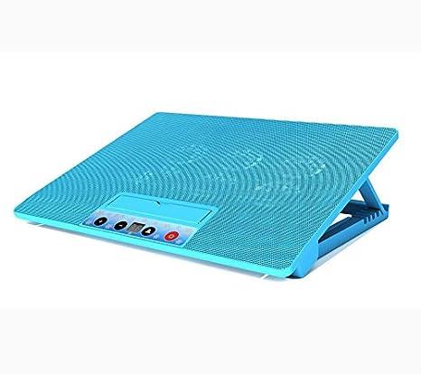 Aoligei radiador del ordenador portátil de refrigeración base de soporte del ventilador de seis de 17 pulgadas de la pantalla táctil 15,6 mute: Amazon.es: ...