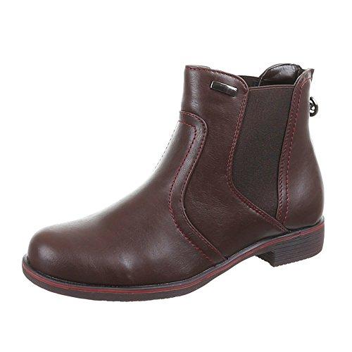 Ital-Design - Botas de Material Sintético para mujer Marrón - marrón oscuro