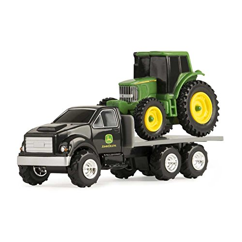 John Deere Tractor with Flatbed 1/64 Scale