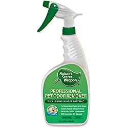 Nature's Secret Weapon Professional Cat Dog Pet Urine Destroyer and Odor Remover. Natural Enzyme Stain Eliminator and Smell Killer. Popular National Brand Green Product,