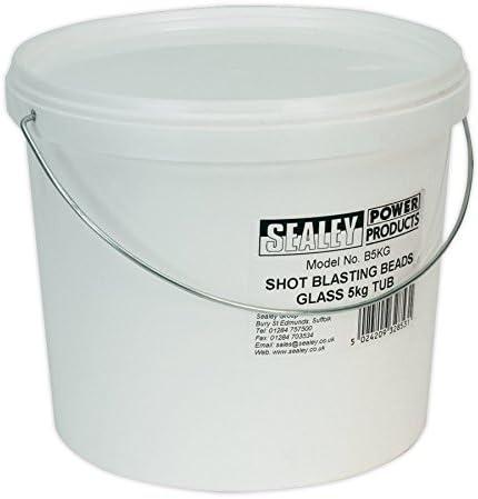 Sealey b5kg 5kg–Granalla de cristal plástico bañera