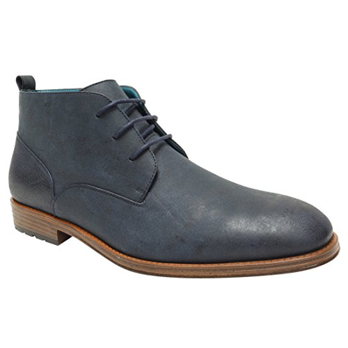 Arider Mens Lace up Casual Chelsea Ankle Boots Navy 11
