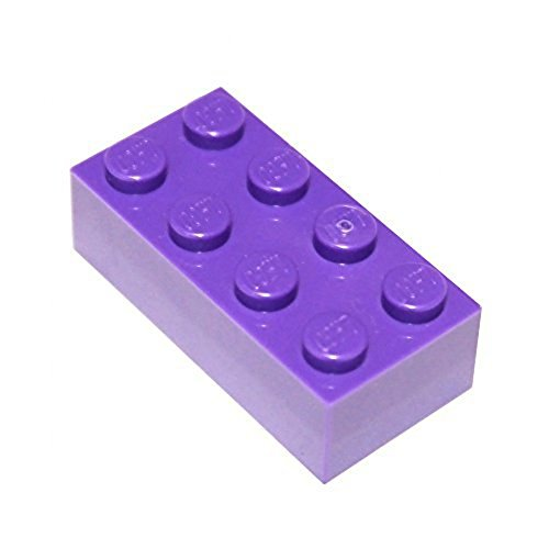 LEGO Parts and Pieces: Dark Purple (Medium Lilac) 2x4 Brick x50