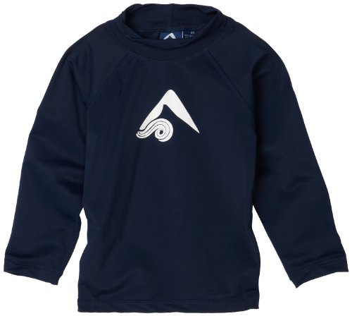 Kanu Surf Little Boys' Toddler Platinum Long-Sleeve Rashguard, Navy, 5T