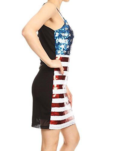 Sleeveless Printed Sequin Dress
