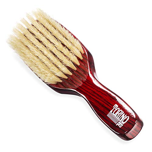 Torino Pro Wave Brush #1290 - By Brush King - Soft, 8 Row Long Handle 360 Waves Brush