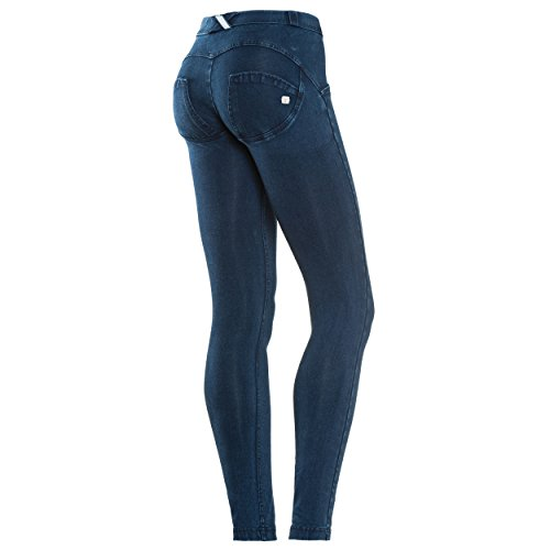 Oscuro Regular costuras Azul Scuro En Elástico Freddy Wr Talle up® Medium De Jeans Denim Pitillo S871XU