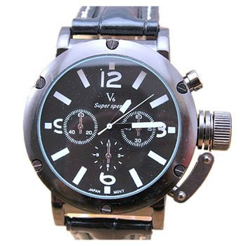 outletissimo Reloj Hombre Militar Táctico acero y piel Nautica playa Oversize grande v6bk