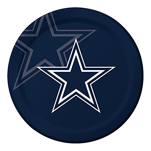 Cowboys Dinner Plates (Creative Converting Officially Licensed NFL Dinner Paper Plates, 96-Count, Dallas Cowboys - 429509)